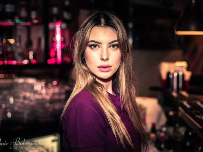 Girl behind the bar