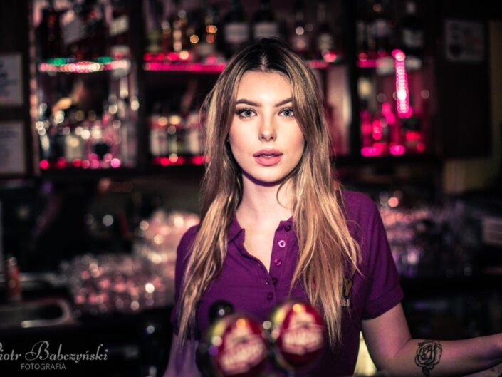 Girl behind the bar